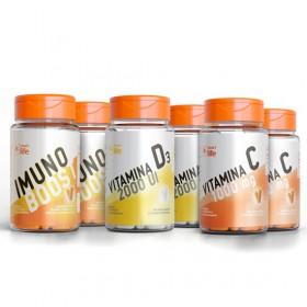 Combo Sistema Imune Família (2 Imuno Boost + 2 Vitamina C + 2 Vitamina D)